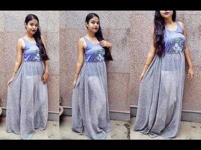 Convert Old Saree Into Maxi Dress | D.I.Y