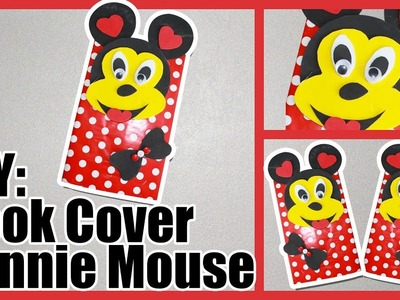 Disney Diy : Minnie Mouse Book Cover, Crafts For Kids, Silly Kids