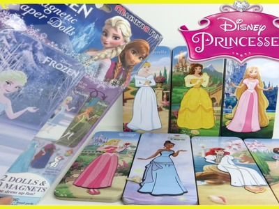 Disney Frozen Elsa Anna Magnetic Paper Dolls Disney Princess Dresses Ariel Cinderella Toy