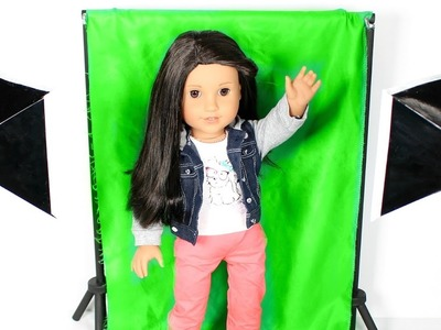 DIY American Girl Doll Green Screen & Light Kit