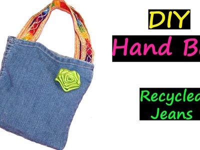 DIY Bags | Recycled Jeans | No Sew | Very EASY | Denim Handbag