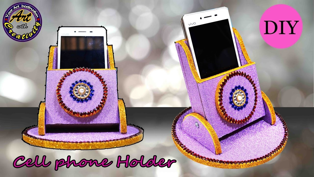 DIY : Cell phone Holder | Marble cell Phone holder inspired |  Art with Creativity 199