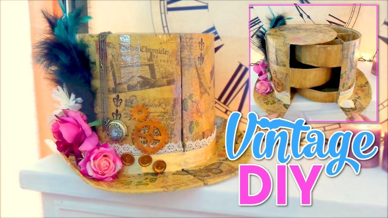 Diy crafts for room decor vintage hat organizer diy room for Diy craft room decorating ideas