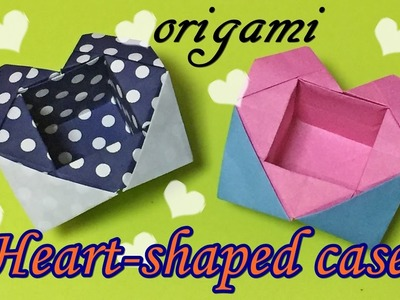 DIY crafts | Paper accessory case | Origami heart shaped case easy but cool with one piece of paper