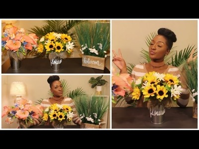DIY Dollar Tree: 3 Spring Floral Arrangements ???????????? Mother's day | Wedding | Home | Chanelle Novosey
