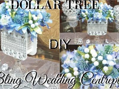 DIY DOLLAR TREE WEDDING OR BRIDAL SHOWER BLING CENTERPIECE PETALISBLESS ????