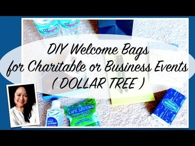 DIY Dollar Tree Welcome Bags for Charitable or Business Event