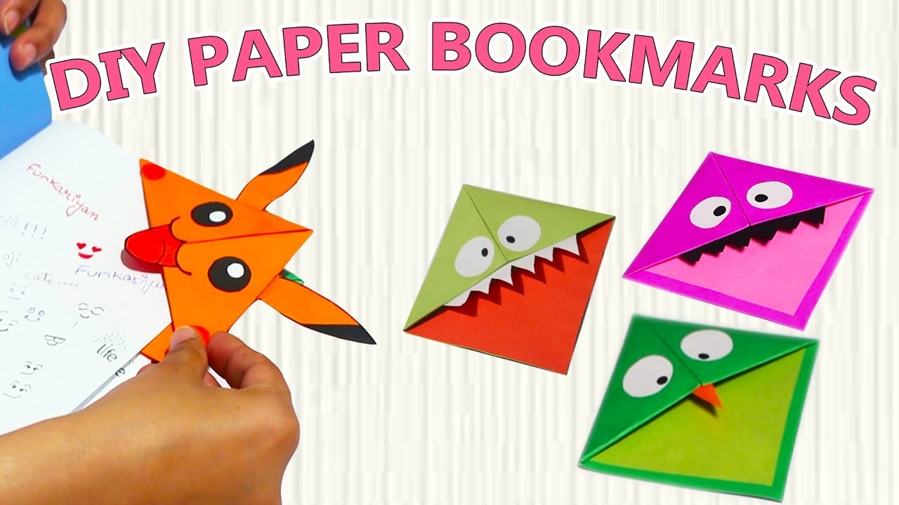 Easy Pikachu Bookmark Corner Pokemon Go Origami YouTube