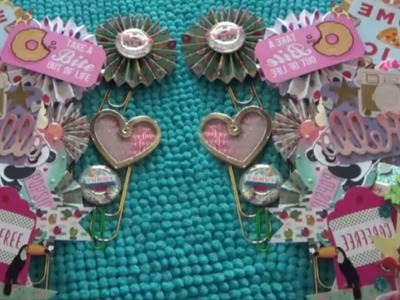 DIY EMBELLISHMENTS ** BUILDING MY STASH** ROSETTES, PAPER CLIPS & STICKERS