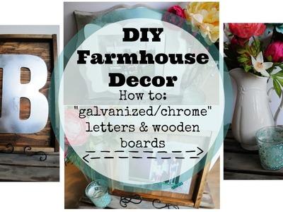 "DIY Farmhouse Decor | ""Galvanized metal"" on Wood Crafts"