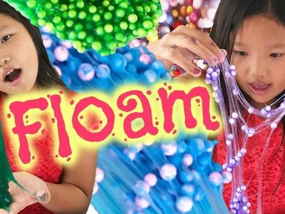 DIY Floam Slime | Alien Slime, Cotton Candy Floam, Grape Jelly Floam, Party Confetti Floam