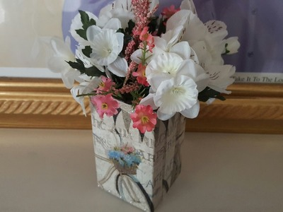 ???? DIY Flower Box Upcycle   Dollar Tree Crafts   Mod Podge
