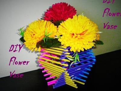 DIY Flower Vase: How to make flower vase made with paper  