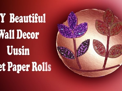 DIY Flowers using toilet paper rolls (DIY) and turn it into wall beautiful decor