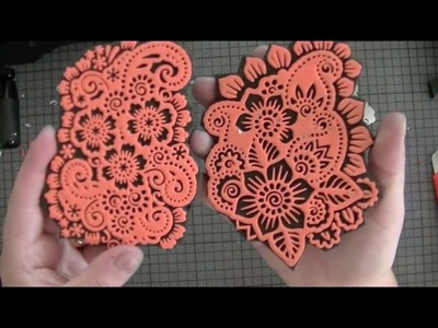 DIY foam die cut stamps