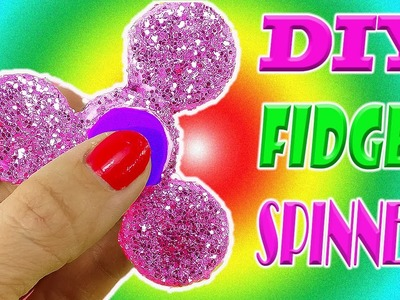DIY GLITTER FIDGET SPINNER! Spins FAST & Made With Simple Supplies! No Bearings Needed! 1000mph?