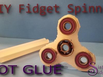 DIY   Hot Glue Fidget Spinner! Best Results!
