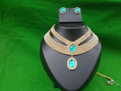 (DIY) How to make Designer Wear Bridal Necklace. The Stunning Handmade's.❤