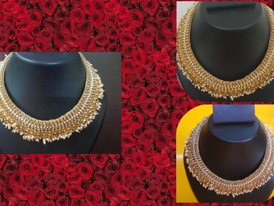 (DIY)HOW TO MAKE DESIGNERS WEAR BRIDAL NECKLACE.THE STUNNING HANDMADE'S.❤