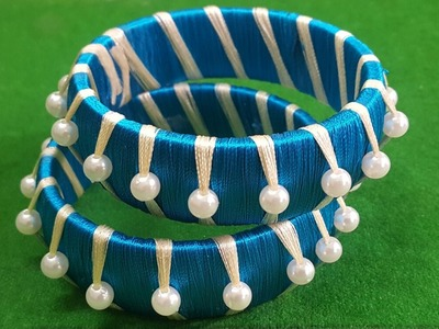 (DIY) HOW TO MAKE SILK THREAD PEARL BANGLES.THE STUNNING HANDMADE'S. ❤