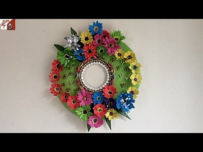 DIY Incredible Round Wall Hanging with Paper |  Easy Paper Made Wall Hanging Wreath
