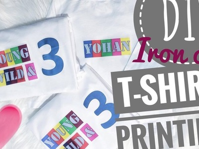 DIY Iron-on T-shirt Printing