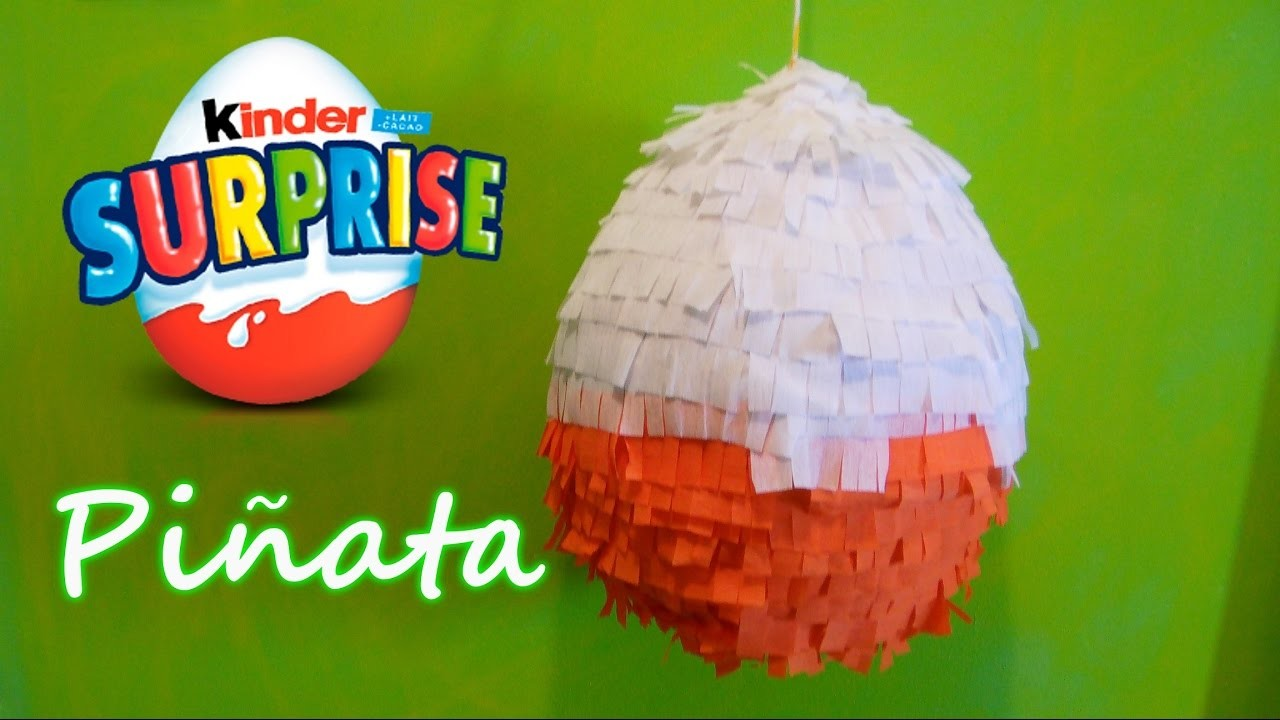 diy kinder surprise pinata my crafts and diy projects. Black Bedroom Furniture Sets. Home Design Ideas