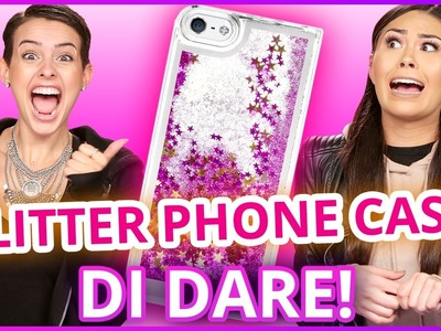 DIY LIQUID GLITTER PHONE CASE?! Di Dare w. Lisa Cimorelli & Roxette Arisa