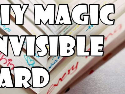 DIY Magic and Invisible Greeting Card | Easy Gift Ideas | Arts, Crafts and Timelapse