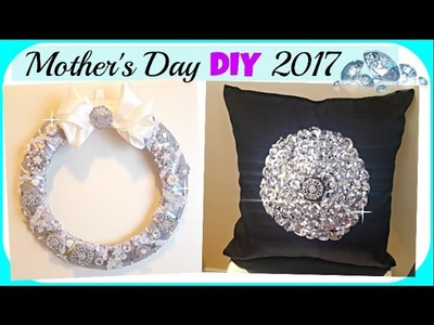 DIY Mother's Day Glam GIFT Ideas 2017 | Pillow & Wreath Home Decor (Collab) feat Totally Dazzled