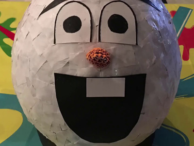 DIY - Olaf pinata for Frozen birthday party (easy crafts with kids)