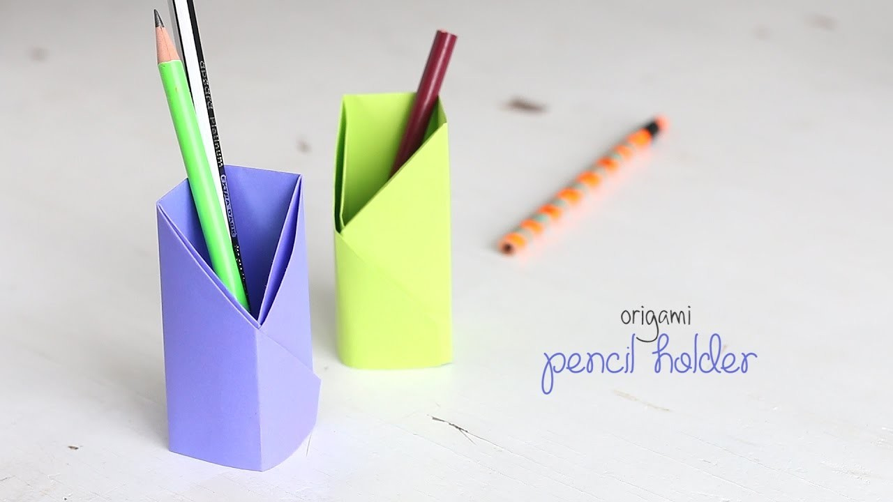 holder diy origami pencil holder pencil box with