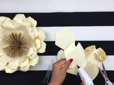 DIY PAPER FLOWER BACKDROP | SPRING FLOWERS| TEMPLATE #14