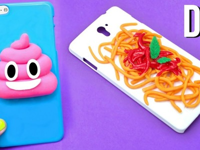DIY PHONE CASES | SPAGHETTI & POO EMOJI