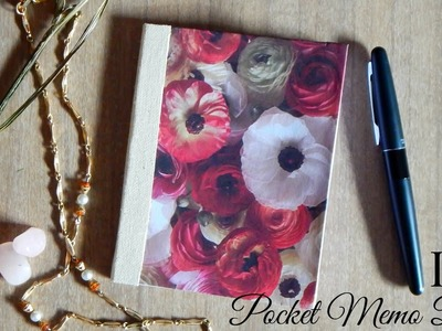 DIY Pocket Memo Book | Notepad.Notebook | The Sweetest Journey