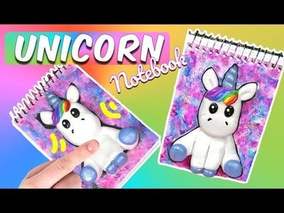 DIY School Supplies : Jumping Clay  Unicorn galaxy Notebook