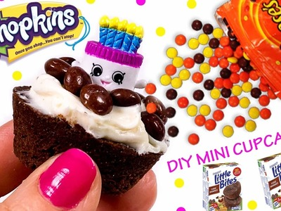 DIY Shopkins Cupcakes With Frosting - Easy No Bake Recipe For Kids - Little Bites Reeses Candy