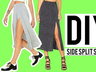 DIY Side Split Jersey Skirt | Make Thrift Buy #54