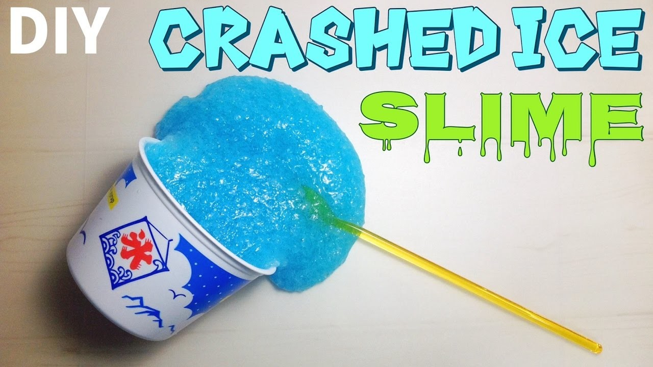 DIY Slime!Crashed ice! How to make slime. カキ氷スライム