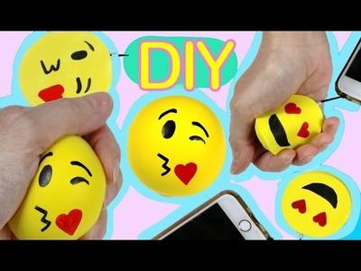 Diy squishy emoji and Stress ball