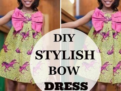 ????DIY :  STYLISH BOW DRESS