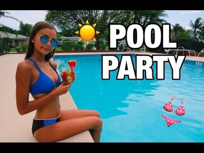 DIY Summer Pool Party! Decor, Treats, Outfit, & More!