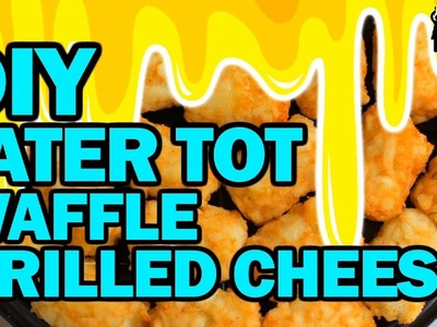 DIY Tater Tot Waffle Grilled Cheese!!! - Corinne Vs Cooking #18