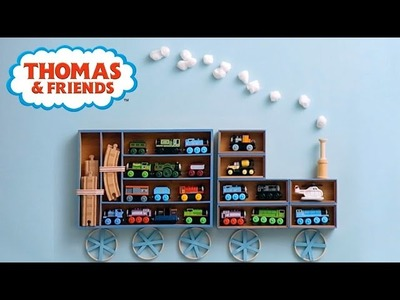 DIY Thomas Train Shelves! Room Decor for Kids! | Thomas & Friends Crafts | Thomas & Friends