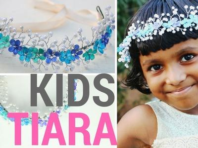 DIY Tiara for Kids || Nail Polish Flowers and Pearls Design || DIYCrafts #7