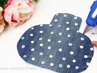 DIY Wallet for GIRLS   Jeans PURSE NO SEW