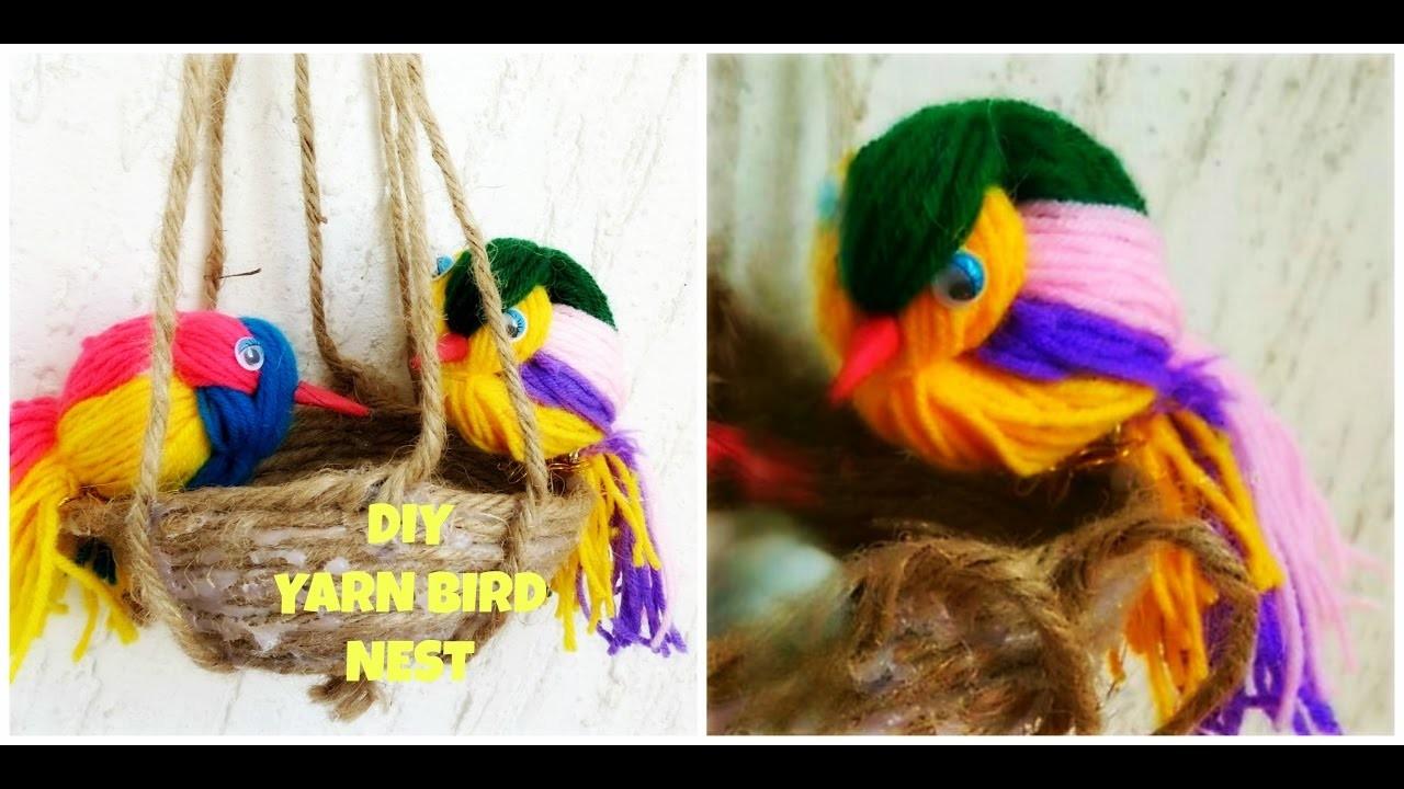 DIY Woolen Bird Nest WallHanging  