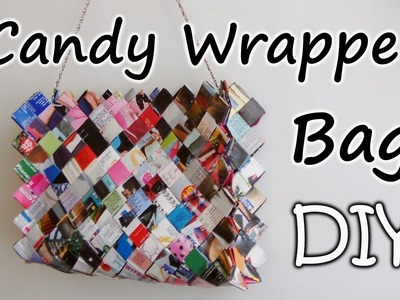 DIY : Zig Zag Candy Wrapper Bag. Purse Part 1
