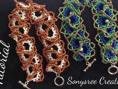 Easy DIY bracelet (ogalala Stitch )