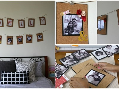 Easy DIY Wall Decor | Family Photo String Display | Crafts | Collab Day 7